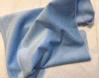 Velveteen, Bluebells, Blue Velveteen, Hand Dyed Velveteen, Cotton Velveteen, Finishing Fabric, Velveteen Fabric, Lady Dot Creates