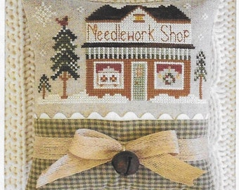 Counted Cross Stitch Pattern, Needlework Shop, Hometown Holiday, Ornament Pillow, Christmas Ornament, Little House Needleworks, PATTERN ONLY