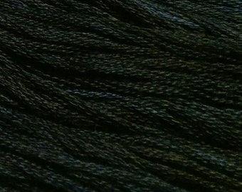 Gentle Art, Sampler Threads, Black Crow, #1040, 10 YARD Skein, Embroidery Floss, Counted Cross Stitch, Hand Embroidery Thread