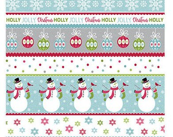 Quilt Fabric, Joy, Merry and Bright, Stripe Multi, Christmas Fabric, Holiday, Benartex, Contempo, Cherry Blossom Quilting, Cherry Guidry