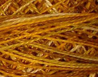 Valdani Thread, Size 8, V106, Antique Golds, Perle Cotton, Embroidery Thread, Penny Rugs, Hand Dyed Thread, Wool Applique, Punch Needle