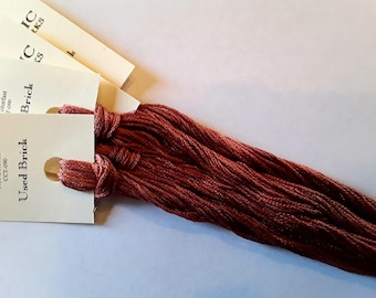 Classic Colorworks, Used Brick, CCT-090, 5 YARD Skein, Hand Dyed Cotton, Embroidery Floss, Counted Cross Stitch, Hand Embroidery Thread