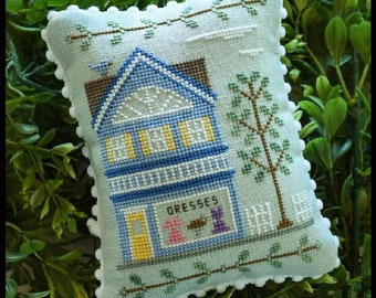 Counted Cross Stitch, Main Street Dress Shop, Cottage Decor, Main Street Series #6, Country Cottage Needleworks, PATTERN ONLY