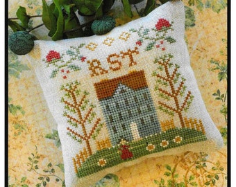 Counted Cross Stitch Pattern, ABC Samplers, #7, Cross Stitch Sampler, Little House Needleworks, Cross Stitch Pillow, Ornament, PATTERN ONLY