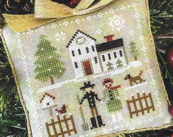 Counted Cross Stitch Pattern, Farm Folk, Farmhouse Christmas, Cross Stitch Pillow, Ornament, Little House Needleworks, PATTERN ONLY