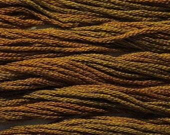 Classic Colorworks, Roasted Chestnut, CCT-155, 5 YARD Skein, Hand Dyed Cotton, Embroidery Floss, Counted Cross Stitch, Embroidery Thread