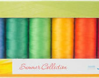 Mettler Thread, Summer Collection, Silk Finish Cotton, Thread Set, Embroidery Thread, Sewing Thread, Quilting Thread, Hand Sewing Thread