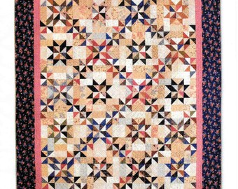 Quilt Pattern, Pinwheel Chain, Scrappy Quilt, Scrap Fabric Pinwheel, Prairie Quilt, Patchwork Quilt, C McCourt Quilt Designs, PATTERN ONLY