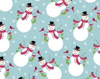 Quilt Fabric, Joy, Joy Snowman, Turquoise, Christmas Fabric, Holiday, Benartex, Contempo, Cherry Blossom Quilting, Cherry Guidry