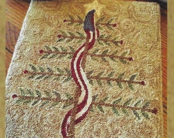 Punch Needle Pattern, Old Glory Tree, American Flag, Christmas Decor, Primitive Christmas, Americana, The Old Tattered Flag, PATTERN ONLY