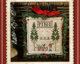Counted Cross Stitch Pattern, Fresh Pines, Jack Frost's Tree Farm, Christmas Tree Farm, Christmas, Little House Needleworks, PATTERN ONLY