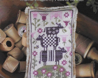 Counted Cross Stitch Pattern, Cow Pile, Farm Animal, Summer Cows, Cross Stitch Cows, Barn Animal, Plum Street Sampler, PATTERN ONLY