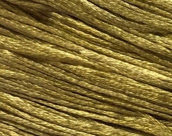 Weeks Dye Works, Cornsilk, WDW-1123, 5 YARD Skein, Hand Dyed Cotton, Embroidery Floss, Counted Cross Stitch, Embroidery, PunchNeedle