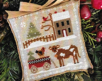 Counted Cross Stitch Pattern, Dairy Darlin', Farmhouse Christmas, Cross Stitch Pillow, Ornament, Little House Needleworks, PATTERN ONLY