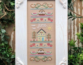 PRE-Order, Counted Cross Stitch, Sampler of the Month, Summer Decor, Cottage Decor, Watermelon, Country Cottage Needleworks, PATTERN ONLY