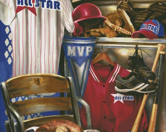 Counted Cross Stitch Pattern, Hometown Hero, Baseball, All Star Baseball, MVP, Bat, Dona Gelsinger, Heaven and Earth Designs, PATTERN ONLY