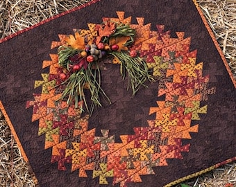 Quilt Pattern, Twister Harvest, Fall Decor, Rustic Decor, Pinwheel Quilt, Thanksgiving, Fall Quilt, Harvest, Need'l Love,, PATTERN ONLY