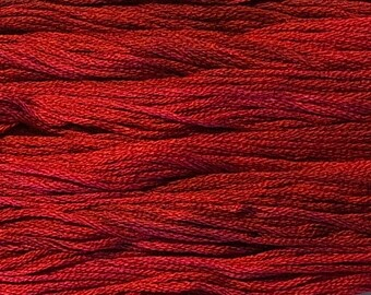 Gentle Art, Simply Shaker Threads, Schoolhouse Red, #7052, 10 YARD Skein, Embroidery Floss, Counted Cross Stitch, Hand Embroidery Thread