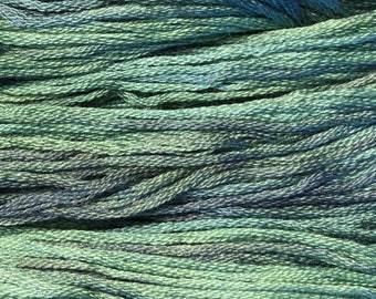 Gentle Art, Simply Shaker Threads, Green Pasture, #7023, 10 YARD Skein, Embroidery Floss, Counted Cross Stitch, Hand Embroidery Thread