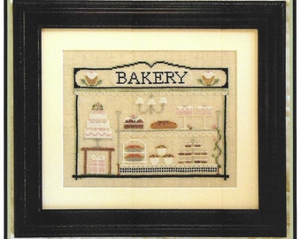Counted Cross Stitch, The Bakery, Cross Stitch Patterns, Cottage Decor, French Decor, Baking, Country Cottage Needleworks, PATTERN ONLY