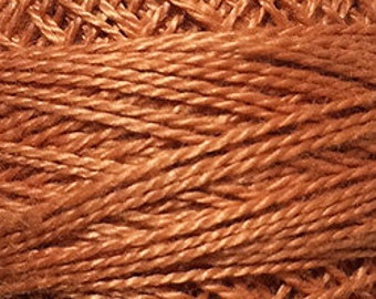 Valdani Thread, Size 12, 68, Golden Rust, Perle Cotton, Embroidery, Penny Rugs, Punch Needle, Primitive Stitching, Sewing Accessory