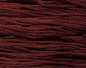 Weeks Dye Works, Crimson, WDW-3860, 5 YARD Skein, Hand Dyed Cotton, Embroidery Floss, Counted Cross Stitch, Hand Embroidery, PunchNeedle
