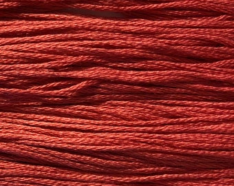 Weeks Dye Works, Bluecoat Red, WDW-6850, 5 YARD Skein, Hand Dyed Cotton, Embroidery Floss, Counted Cross Stitch, Embroidery, PunchNeedle