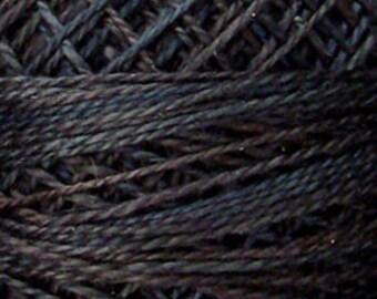Valdani Thread, Size 8, O511, Valdani Perle Cotton, Black Sea, Punch Needle, Embroidery, Penny Rugs, Primitive Stitching, Sewing Accessory
