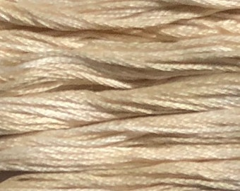 Weeks Dye Works, Parchment, WDW-1110, 5 YARD Skein, Hand Dyed Cotton, Embroidery Floss, Counted Cross Stitch, Embroidery, Over Dyed Cotton