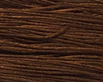 Weeks Dye Works, Chestnut, WDW-1269, 5 YARD Skein, Hand Dyed Cotton, Embroidery Floss, Counted Cross Stitch, Embroidery, Over Dyed Cotton