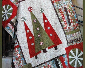 Quilt Pattern, Step Into Christmas, Christmas Decor, Holiday Decor, Christmas Quilt, Twin Quilt, Jelly Roll, Abbey Lane Quilts, PATTERN ONLY