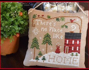 Counted Cross Stitch Pattern, No Place Like Home, Christmas Ornament, Snowman Ornament, Christmas, Little House Needleworks, PATTERN ONLY