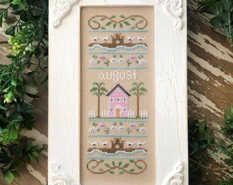 PRE-Order, Counted Cross Stitch, Sampler of the Month, Summer Decor, Cottage Decor, Americana, Country Cottage Needleworks, PATTERN ONLY