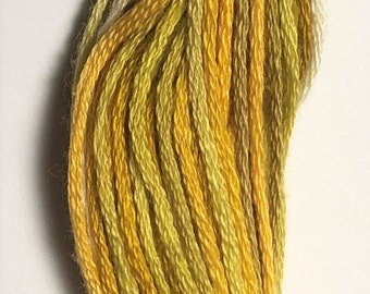 Valdani, 6 Strand Cotton Floss, V106, Antique Golds, Embroidery Floss , Punch Needle, Embroidery, Penny Rugs, Sewing Accessory
