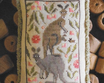Counted Cross Stitch Pattern, Roo Crew, Kangaroo, Kangaroo Troop, Christmas Ornament, Pillow Tuck, Holly, Plum Street Sampler, PATTERN ONLY
