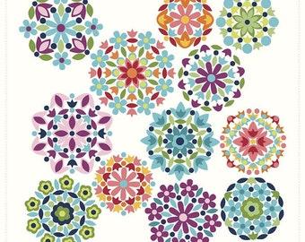 Quilt Fabric, Rosette Panel, Gemstones Bright, Quilt Panel, Quilters Cotton, Cotton Fabric, Gerri Robinson, Riley Blake Designs