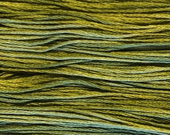 Weeks Dye Works, Guacamole, WDW-1193, 5 YARD Skein, Cotton Floss, Embroidery Floss, Counted Cross Stitch, Hand Embroidery, Punch Needle