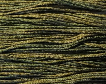 Weeks Dye Works, Tarragon, WDW-2199, 5 YARD Skein, Hand Dyed Cotton, Embroidery Floss, Counted Cross Stitch, Hand Embroidery, PunchNeedle