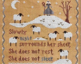 Counted Cross Stitch Pattern, Jubilee's Sheep, Cross Stitch, Cross Stitch Pattern, Scripture, Little House Needlework, PATTERN ONLY