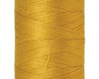 Mettler Thread, Nugget Gold, #0117, 60wt, Solid Cotton, Silk Finish Cotton, Embroidery Thread, Sewing Thread, Quilting Thread, Sewing Thread