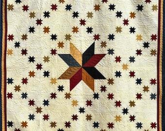 Quilt Pattern, Stars of Glory, Pieced Quilt, Americana, Lap Quilt, Primitive Decor, Patriotic Decor, Thimble Creek Quilts, PATTERN ONLY