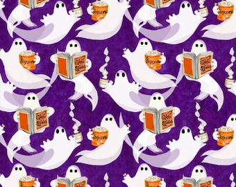 Quilt Fabric, Ghost Party, Ghosts, Scary Stories, Party Ghosts, Halloween Quilt, Halloween Fabric, Halloween Decor, 3 Wishes Fabric