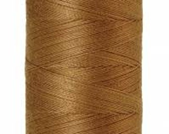 Mettler Thread, Dark Tan, #0287, 60wt, Solid Cotton, Silk Finish Cotton, Embroidery Thread, Sewing Thread, Quilting Thread, Sewing Thread