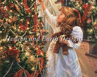 Counted Cross Stitch Pattern, Hanging Ornaments, Christmas Decor, Christmas Tree, Sandra Kuck, Heaven and Earth Designs, PATTERN ONLY
