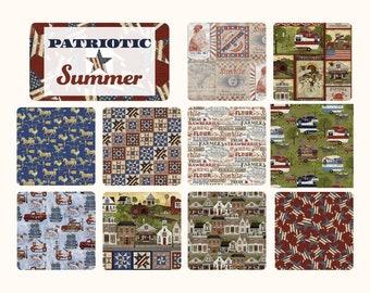 Quilt Fabric, Patriotic Summer, Americana, Patriotic, American Flag, Summer Decor, Patriotic Weathervane, Beth Albert, 3 Wishes Fabric