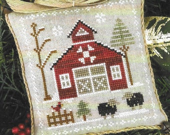 Counted Cross Stitch Pattern, Baa Baa Black Sheep, Farmhouse Christmas, Cross Stitch Pillow, Sheep, Little House Needleworks, PATTERN ONLY