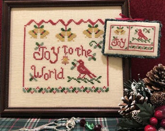 Counted Cross Stitch Pattern, Joy to the World, Christmas Decor, Christmas Ornament, Inspirational, Scissor Tail Designs, PATTERN ONLY