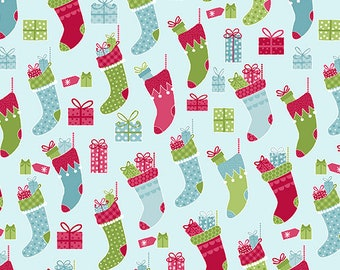 Quilt Fabric, Joy, Stocking Stuffers, Light Turquoise, Christmas Fabric, Holiday, Benartex, Contempo, Cherry Blossom Quilting, Cherry Guidry
