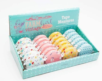 Tape Measures, Farm Girl Vintage, Lori Holt, Bee in my Bonnet, Riley Blake Designs, Fabric Covered Tape, Sewing Accessories, Sewing Notions