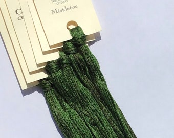 Classic Colorworks, Mistletoe, CCT-242, 5 YARD Skein, Hand Dyed Cotton, Embroidery Floss, Counted Cross Stitch, Hand Embroidery Thread
